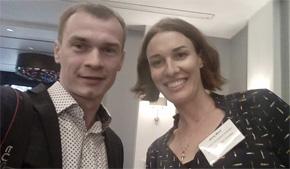 SportAccord membership workshop 2017. Валентин Егоров и Дженни Манн - руководитель отдела партнерских отношений МОК